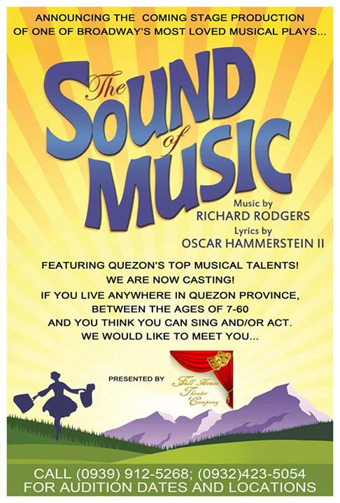 Sound Of Music Audition Poster Photo From Felino Tanada