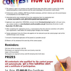 All About Lucena Drawing Contest Mechanics