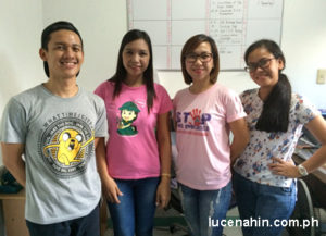 Girl Scouts of the Philippines Lucena City Council Executive Lorena Potestades posing with Lucenahin.com.ph staff